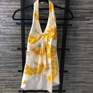 Floral 100% Cotton Halter Top